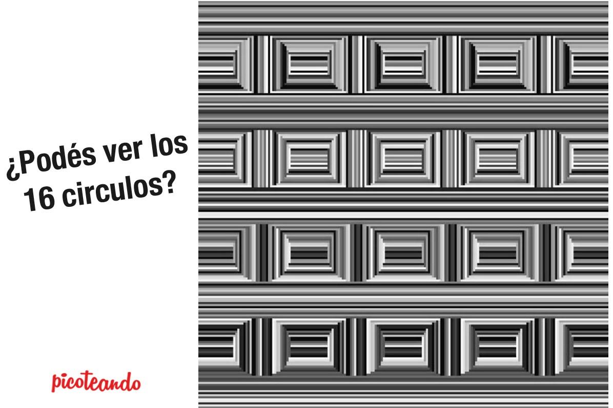 Desafío óptico: ¿Puedes ver todos los círculos?