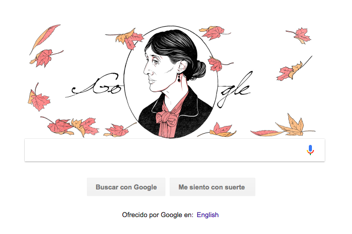 Virginia Woolf, homenajeada en doodle de Google